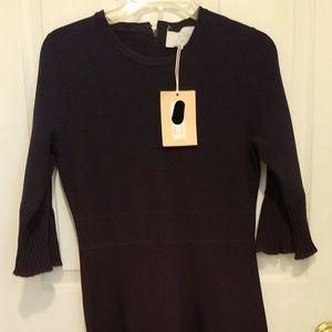 Knit Flutter Sleeve Dress
